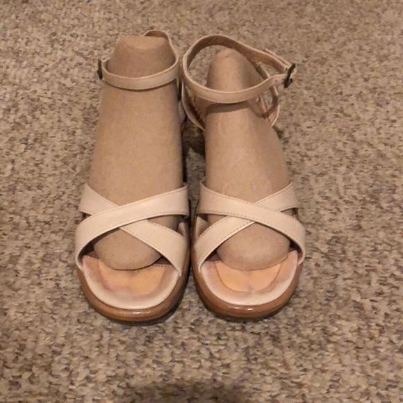 6e9a111b3d2 Dansko Shoes - Dansko bone strappy wedge heel sandals sz 6.5-7